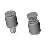 Riveted panel screw assembly PFS2/PFC2